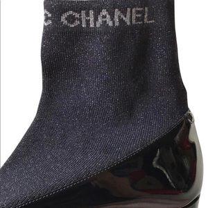 Chanel Sock Booties